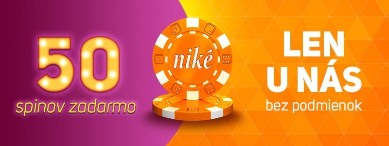 Niké - vstupný bonus kasíno
