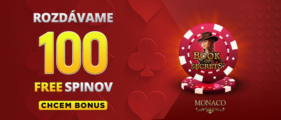 Bonus 100 free spinov v kasíne Monaco
